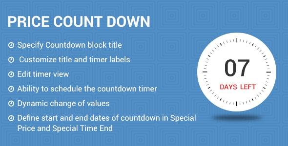 Price countdown Magneto2 extension - CodeCanyon Item for Sale