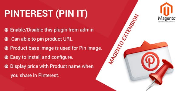 Pinterest magento2 extension