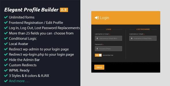 Elegant Profile Builder - CodeCanyon Item for Sale