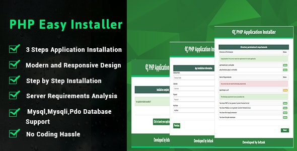 PHP Easy Installer - Complete PHP Installation Script - CodeCanyon Item for Sale