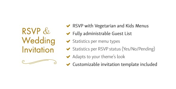 RSVP and Wedding Invitation WordPress Plugin