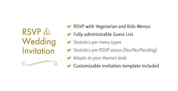 RSVP and Wedding Invitation WordPress Plugin - CodeCanyon Item for Sale
