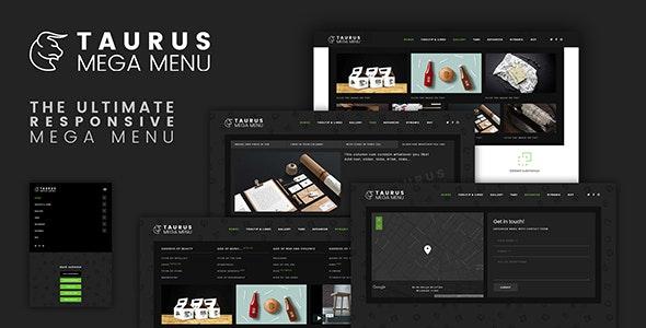 TaurusMenu - Responsive Mega Menu - CodeCanyon Item for Sale