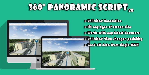 WebGL Based Multi-Purpose 360° Panoramic Script