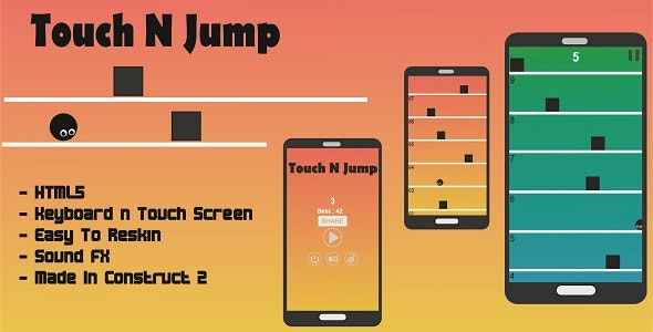 Touch N Jump - HTML5 Game - CodeCanyon Item for Sale