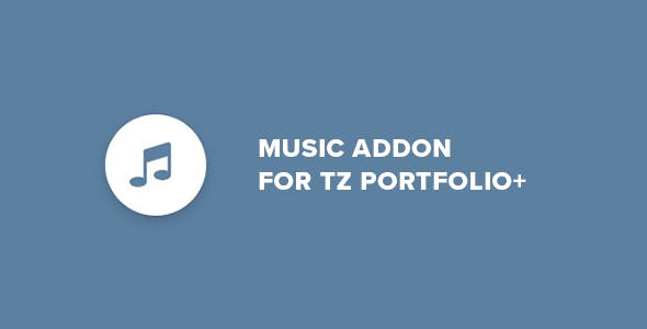Music - Addon for TZ Portfolio+