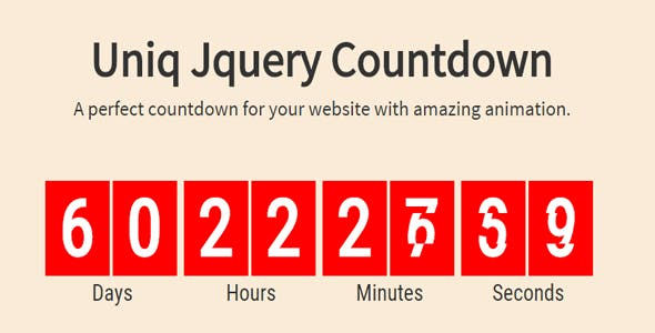 UniqCountDown Jquery Plugin