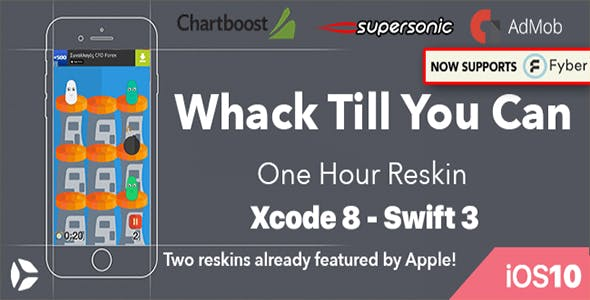 Whack Till You Can - One Hour Reskin - iOS 10 and Swift 3 ready