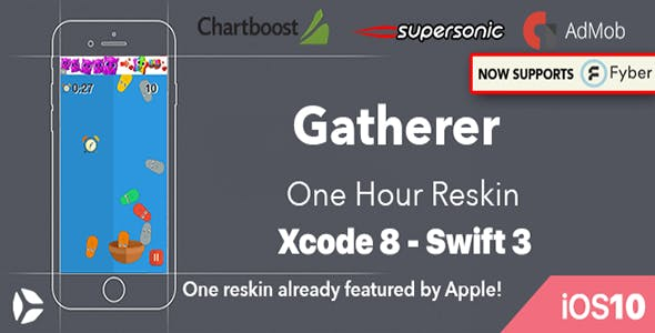 Gatherer – One Hour Reskin - iOS 10 and Swift 3 ready