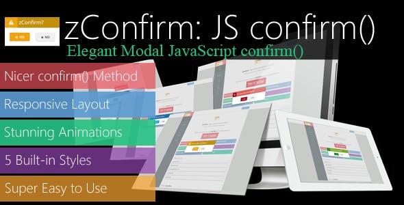 zConfirm: Elegant Modal JavaScript confirm()