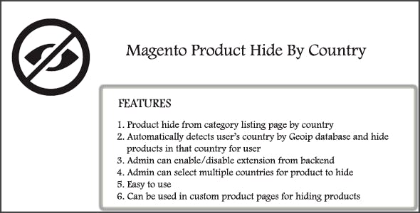 Magento Product Hide By Country