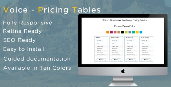 Voice - Responsive Bootstrap Pricing Tables - CodeCanyon Item for Sale