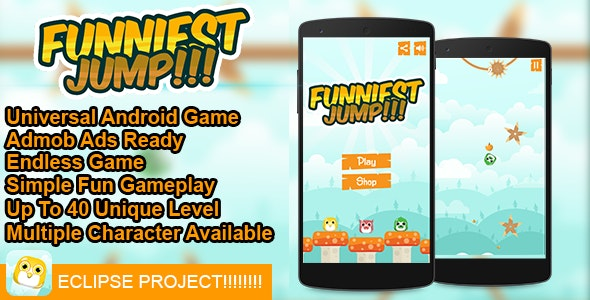 Funniest Jump!!!  - Buildbox Addictive Arcade Android Game - CodeCanyon Item for Sale
