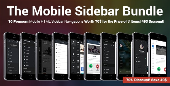 The Mobile Sidebar Bundle - CodeCanyon Item for Sale