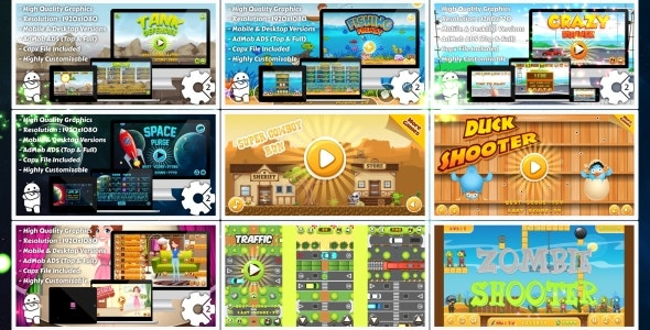 HTML5 GAMES BUNDLE №2 (Construct 3 | Construct 2 | Capx) - CodeCanyon Item for Sale