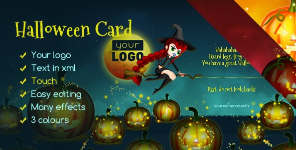 Halloween Card Witch - CodeCanyon Item for Sale