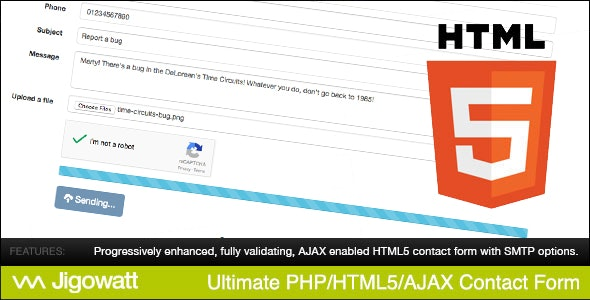 Ultimate PHP, HTML5 & AJAX Contact Form (Bootstrap Edition) - CodeCanyon Item for Sale