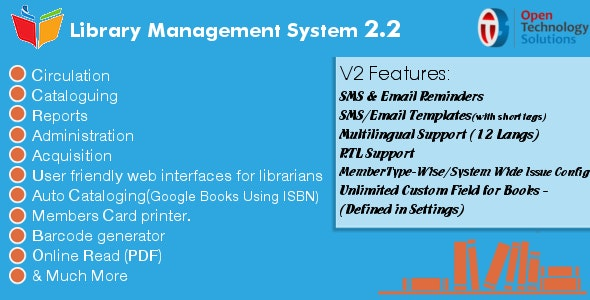 Library Management System 3.0 - CodeCanyon Item for Sale