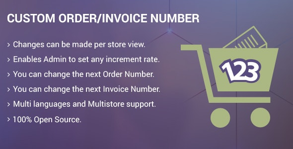 Custom Order/Invoice Number - CodeCanyon Item for Sale