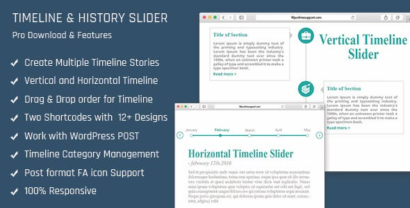 Horizontal Timeline Plugins, Code & Scripts from CodeCanyon