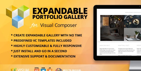 Expandable Portfolio Gallery Addon for WPBakery Page Builder (formerly Visual Composer)