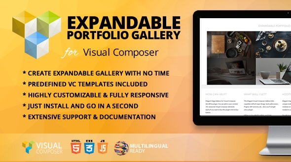 Expandable Portfolio Gallery Addon for WPBakery Page Builder (formerly Visual Composer) - CodeCanyon Item for Sale
