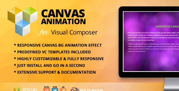 Animated Canvas Addon for WPBakery Page Builder (formerly Visual Composer)