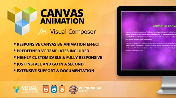 Animated Canvas Addon for WPBakery Page Builder (formerly Visual Composer) - CodeCanyon Item for Sale