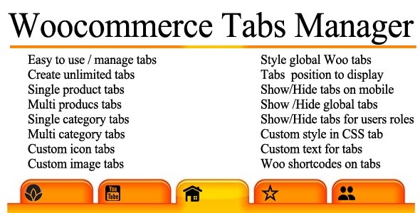 Woocommerce Tabs Manager - CodeCanyon Item for Sale