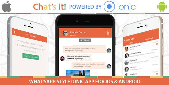 What's App Chat  Clone – An Ionic Framework ,Socket.io and Nodejs Full Hybrid App
