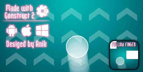 Follow Finger - HTML5 Game (CAPX)