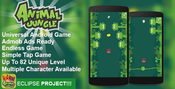 Animal Jungle - Admob Addictive Endless Eclipse Project - CodeCanyon Item for Sale