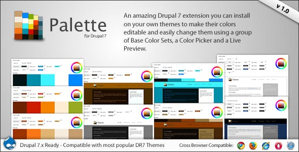 Palette - 4 in 1 Drupal Theme Color Switcher