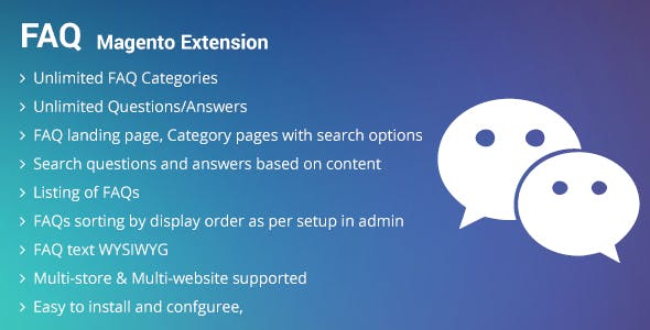 FAQ magento2 extension
