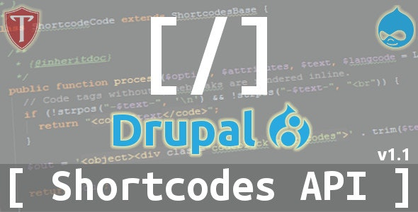 Shortcodes API for Drupal 8 - CodeCanyon Item for Sale