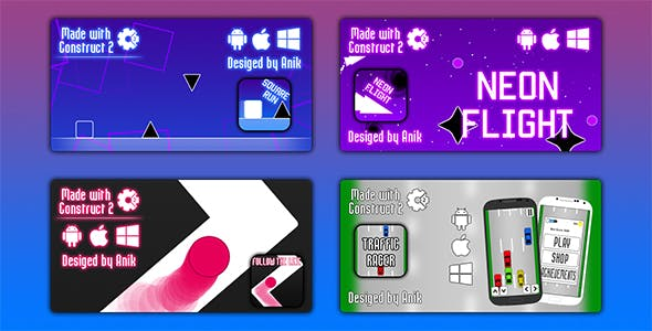 Anik Games Bundle -  4 HTML5 Games (CAPX)