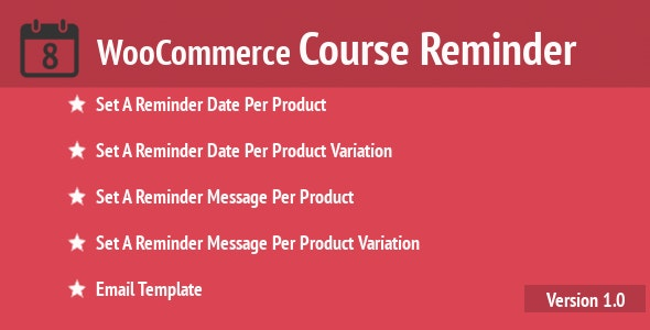 WooCommerce Course Reminder - CodeCanyon Item for Sale