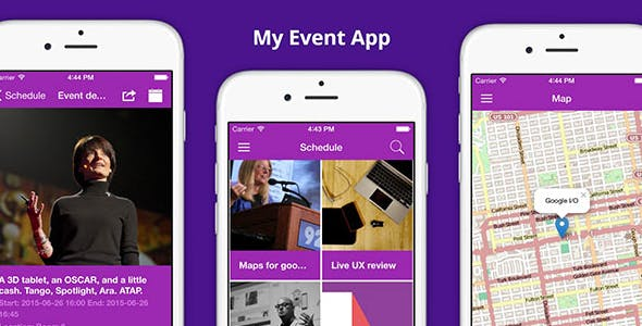 Make A Conference App With Mobile App Templates from CodeCanyon