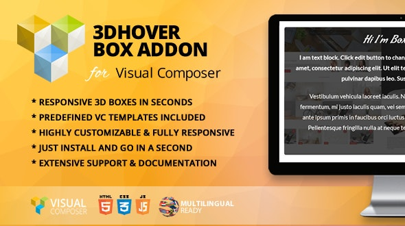 3D Hover Box Addon for WPBakery Page Builder (formerly Visual Composer) - CodeCanyon Item for Sale