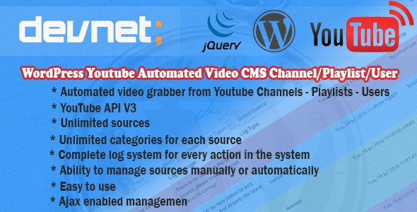 WordPress Youtube Automated Video CMS - CodeCanyon Item for Sale