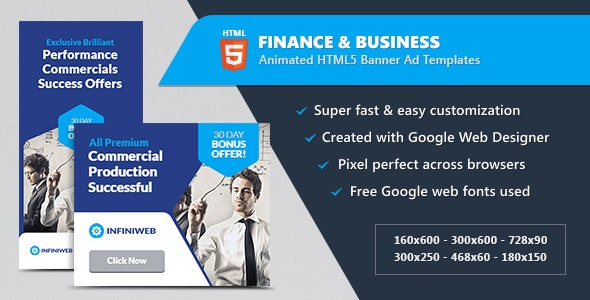 Finance & Business Banner Ads - HTML5 Animated GWD - CodeCanyon Item for Sale
