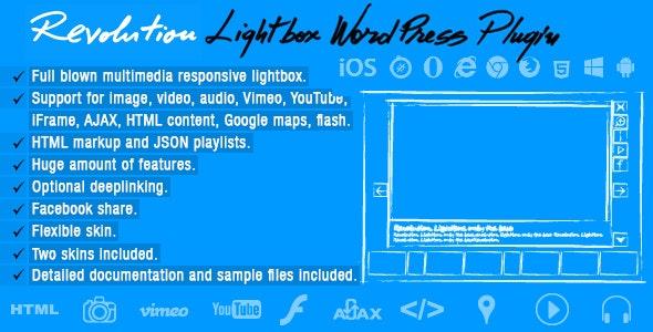 Revolution Lightbox Wordpress Plugin - CodeCanyon Item for Sale