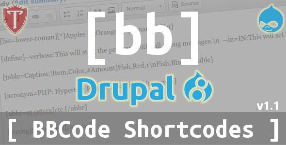 BBCode Shortcodes for Drupal 8
