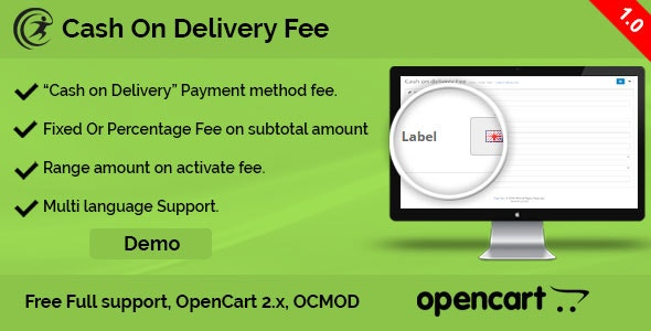 Cash on Delivery Fee - CodeCanyon Item for Sale