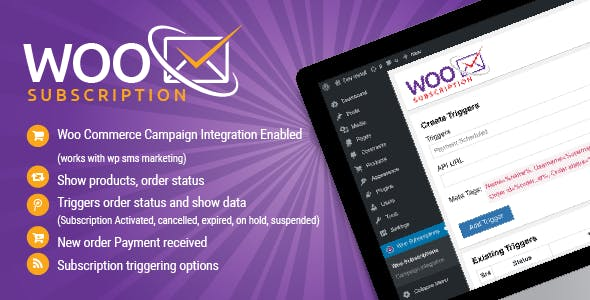 Wordpress Woo Commerce Subscriptions Api Plugin