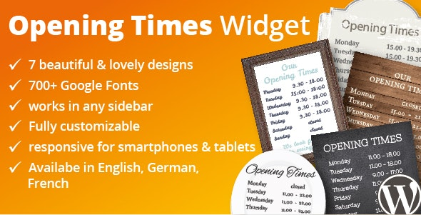 Opening Time Widget - CodeCanyon Item for Sale