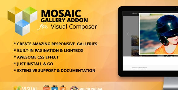Mosaic Gallery Addon for WPBakery Page Builder (formerly Visual Composer)