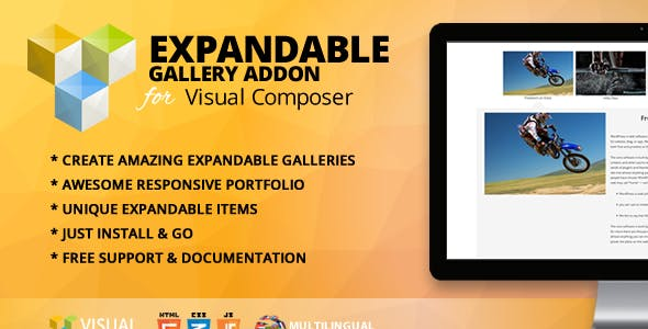 Expandable Gallery Addon for WPBakery Page Builder (formerly Visual Composer)