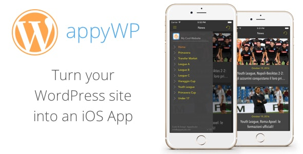 appyWP - WordPress to iOS App Template for Blog and News - CodeCanyon Item for Sale