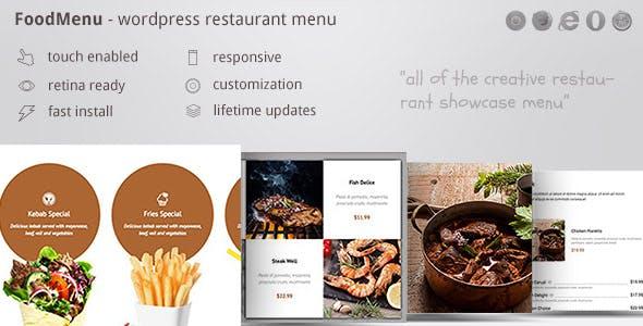 FoodMenu - WP Creative Restaurant Menu Showcase WooCommerce by ZoomIt